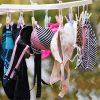 ベランダの洗濯物で女性のブラジャーやパンツを盗撮した下着エロ画像