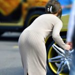 ロングスカート女性の透けパンを盗撮した街撮りパンティラインエロ画像