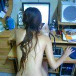 風呂上りの人妻や彼女のだらしない私生活を盗撮した自宅全裸エロ画像