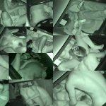 カーセックス名所で深夜ギシアンする男女を赤外線盗撮した車内エロ画像